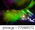 galaxy in a free space. 3D rendering 77088572