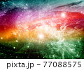 galaxy in a free space. 3D rendering 77088575