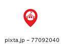 pin map location with circus logo symbol icon vector graphic design illustration 77092040