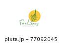 green lines fern leaves logo symbol icon vector graphic design illustration 77092045