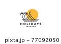 camp beach lines logo symbol icon vector graphic design illustration 77092050