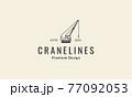 crane construction lines logo symbol icon vector graphic design illustration 77092053