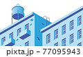 Isometric Building Facade Illustration 77095943