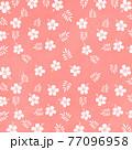 手書き風のシンプルなハイビスカスのイラスト 77096958
