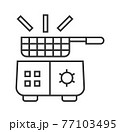 Deep fryer pixel perfect icon vector. Kitchen small appliances line sign. Household tools symbol for app, web. 77103495