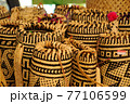Sarawak's Ethnic crafts in Malaysia. It is made of rattan and pandanus leaves. Patterned abstract by nature. 77106599