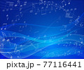 ウェーブ,波,背景,曲線,海,風,ブルー,夏,音符 77116441