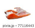 塩銀鮭のカマの切り身【白背景】 77116443