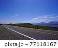 阿蘇の外輪山道路 春の阿蘇高原の風景 77118167