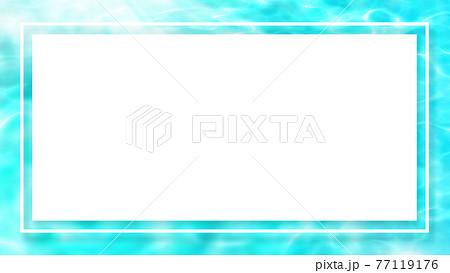 きらきら光る波のフレーム - 複数のバリエーションがあります 77119176