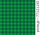 チェック柄の背景、緑基調 77121192