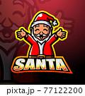 Santa claus mascot esport logo design 77122200