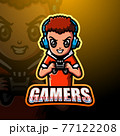 Gamer boy mascot esport logo design 77122208