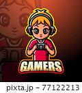 Gamer boy mascot esport logo design 77122213
