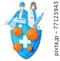 Doctors defeated coronavirus. 77123943