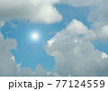 Cloudy sky background 77124559