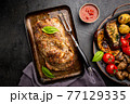 Baked pork meat 77129335
