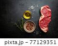 Raw Beef Steak 77129351