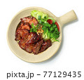 BBQ Roast Pork with Sweet Sauce and Egg Noodles Recipe served in Clay Pot  Hong Kong Red Pork Style 77129435