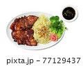 BBQ Roast Pork with Sweet Sauce and Egg Noodles Recipe Hong Kong Red Pork Style 77129437