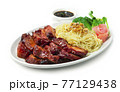 BBQ Roast Pork with Sweet Sauce and Egg Noodles Recipe Hong Kong Red Pork Style 77129438