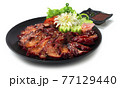 BBQ Roast Pork Hong Kong Red Pork Style (Char Siu) sprinkle with Sesame Juicy delicious Chinese Food 77129440