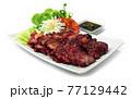 BBQ Roast Pork Hong Kong Red Pork Style (Char Siu) Juicy delicious Chinese Food 77129442