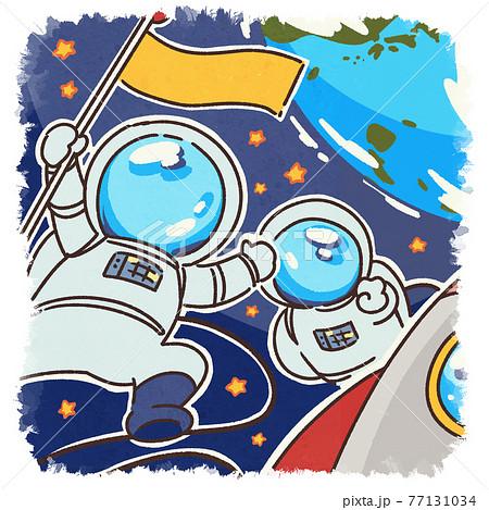 宇宙飛行士のイラスト 77131034