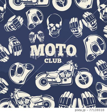 Moto club grunge vintage background 77139310