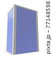 カーテンウォールの高層ビルの建築模型。オフィスビル。白バック。3Dレンダリング。 77148598