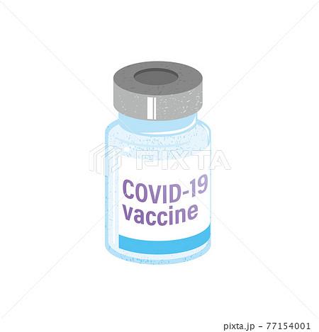 COVID-19ワクチンのイメージイラスト 77154001