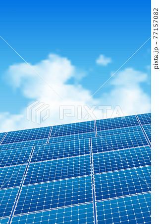 ソーラーパネル 空 太陽光 背景 77157082
