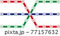 鉄道やバスの路線図 77157632