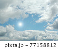 Cloudy sky background 77158812