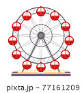 Cartoon vector illustration isolated object amusement park Ferris wheel 77161209