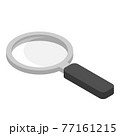 Cartoon vector illustration isolated object magnifier amplifying lens 77161215