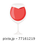 Cartoon vector illustration isolated object red champagne wine glass 77161219