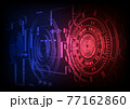 Circuit technology background with hi-tech digital 77162860