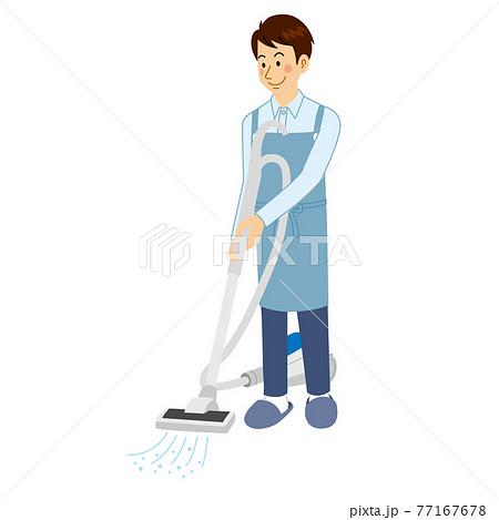 掃除機をかける男 77167678