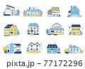 様々なタイプの家 12セット 77172296