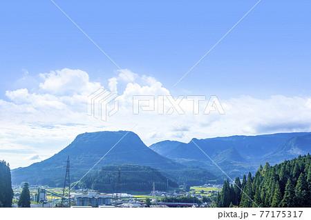 玖珠盆地と伐株山 77175317