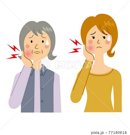 歯が痛い女性 77180618