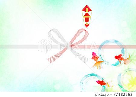 のし お中元 金魚 水引き  77182262