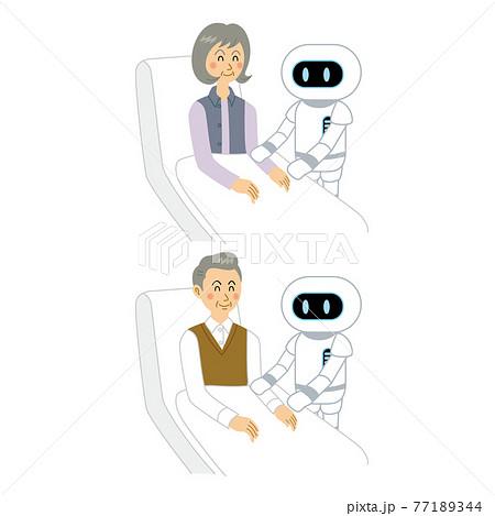 AIロボットと老人 77189344