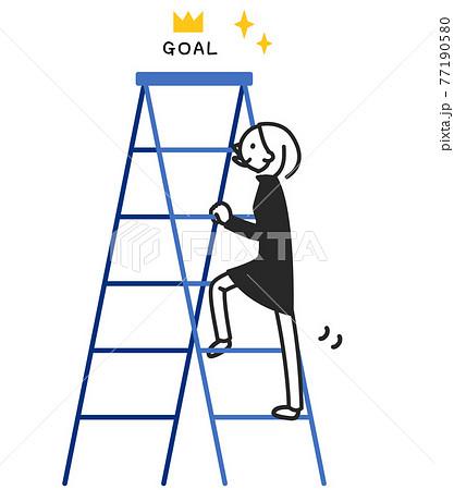 梯子を上る ちまっとした人物 77190580
