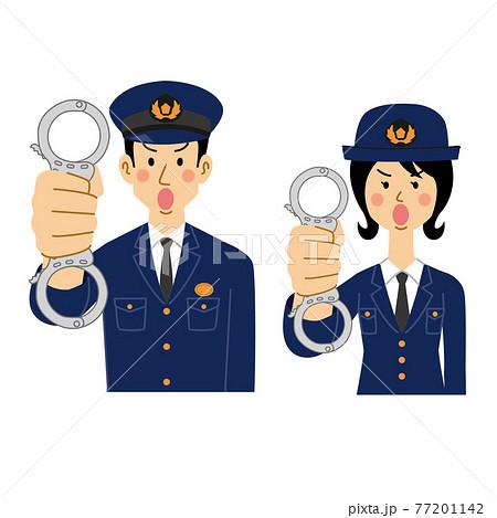 手錠を使う警察官 77201142
