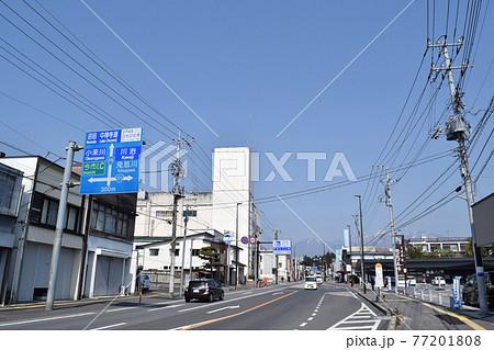 栃木県日光市 今市中心部の街並み 77201808
