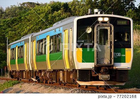 千葉県の久留里線を走るディーデルカー 77202168