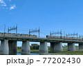 二子橋ですれ違う田園都市線と大井町線の車輛 77202430