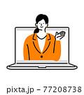 オンラインで営業するビジネスパーソン 77208738